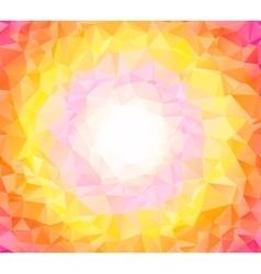 Abstract colorful swirl orange polygon around vector image