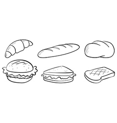 Silhouettes of bread vector image