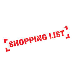 Shopping list rubber stamp vector