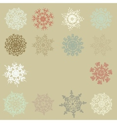 Cute retro snowflakes eps 10 vector