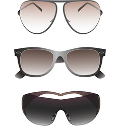 Sunglasses set for men vector