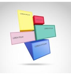 Infographic square design vector image