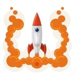 Rocket launch symbol of business startup vector