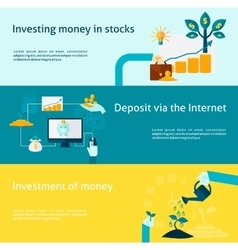 Investment banner set vector
