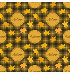 Seamless autumnal pattern vector