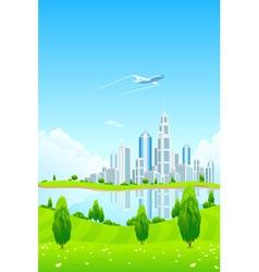 City landscape vector