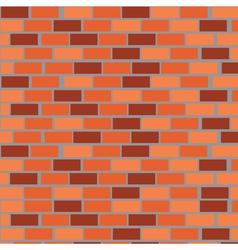 Wall of red bricks vector image