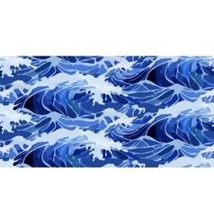 Watercolor storm waves pattern vector