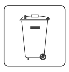 Big trash bin icon vector