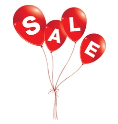 Balloons concept of sale for shops and event red vector