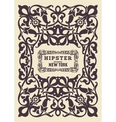 Hipster card elements by layers vector
