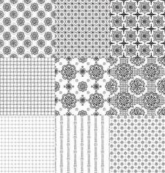 a set of seamless patterns vector image