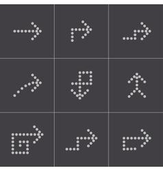 black arrows icons set vector image vector image