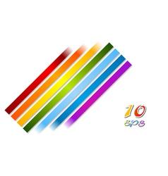 Bright rainbow stripes background vector