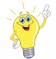cartoon light bulb vector image vector image