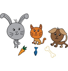 Cute group animals vector