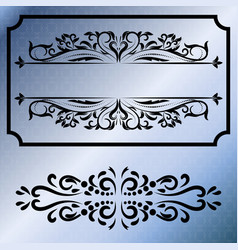 Decorative frames retro black frame vector