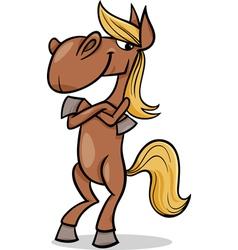 funny horse cartoon vector image vector image