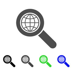 global search flat icon vector image