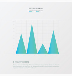 graph and infographic design blue color vector image vector image