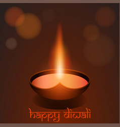 Happy diwali festival background greeting card vector
