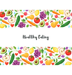 healthy eating poster vector image vector image