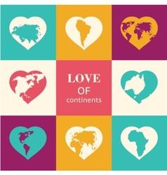 Heart world - love vector image