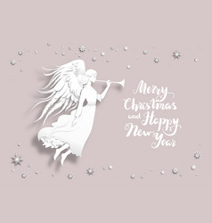 holiday christmas design vector image vector image