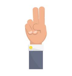 Human hand symbol vector