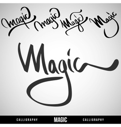 Lettering magic for themes vector