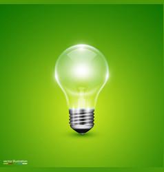 light bulb on background vector image