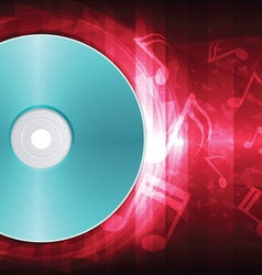power of sound from disk vector image