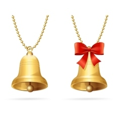 Ring bells hanging chain vector