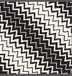 Seamless wavy hand drawn stripes pattern vector