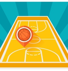 Sports background with basketball court and marker vector
