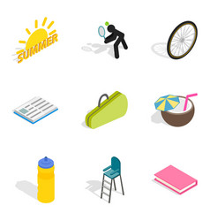 Stripling icons set isometric style vector