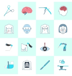 Surgery icons set vector
