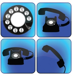 telephone icons collection vector image