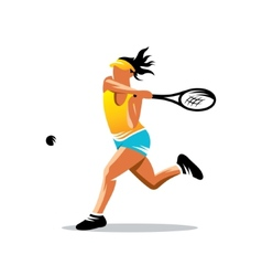 Tennis sign vector image vector image