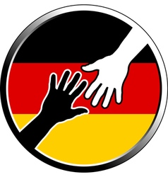 Help in germany vector