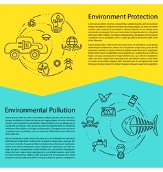 Ecology and environment business template website vector
