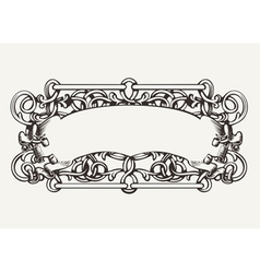 Old banner high ornate background vector