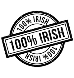 100 percent irish rubber stamp vector