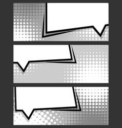 comic balloon horizontal blank banner grey vector image