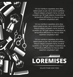 chalkboard barber shop poster vector image