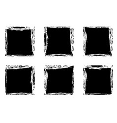 Modern black square stain frames collection vector
