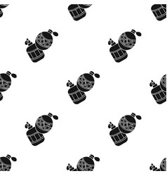 Paintball hand grenade icon in black style vector