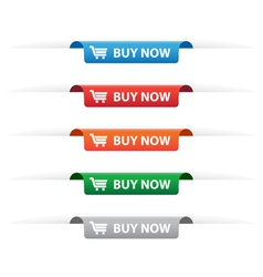 Buy now paper tag labels vector image