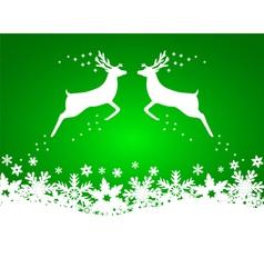 Reindeer with stars snowflakes vector