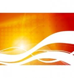 Vibrant wavy abstraction vector